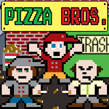 pizza bros, web comic, pixel art, comics, 8 bit art, pizza comic, comedy, slice of life, funny comic, web comics